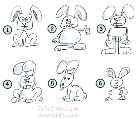超可爱卡通兔子图片