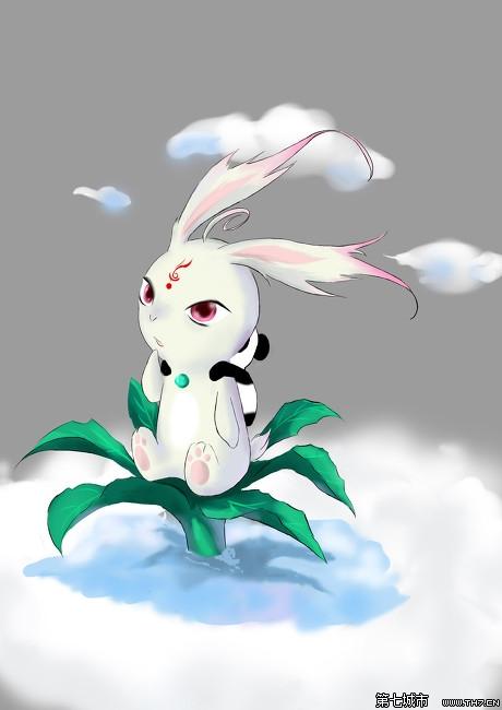 q版可爱呆萌小宠物玉兔