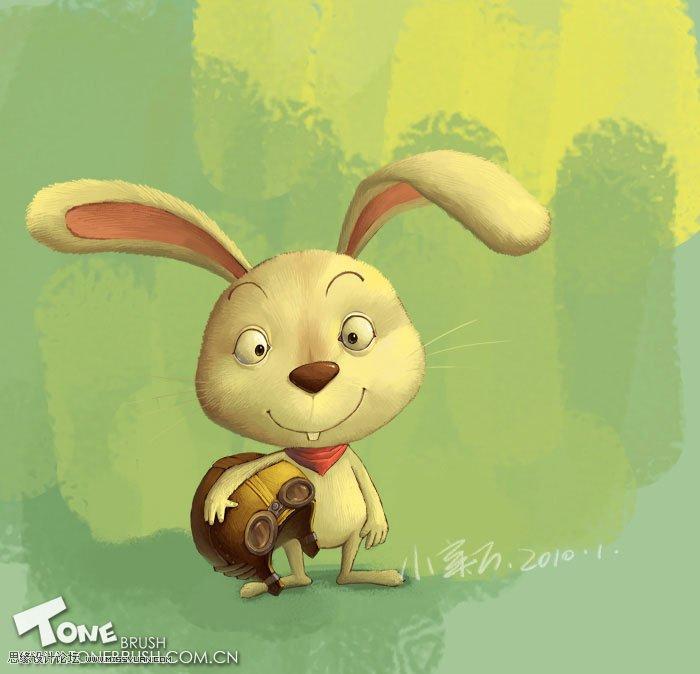 卡通小兔子桌面壁纸
