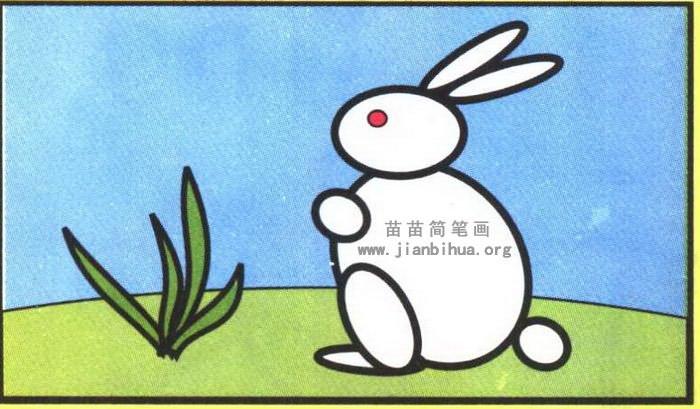 兔子简笔画彩色